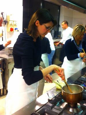 Valentina Masotti al corso di cucina Christian e Manuel, Costardi's tomato rice