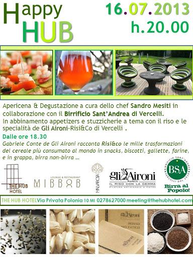 HUB Hotel Milano, #Eventibirra, Gli Aironi Risi&Co, Birrificio BSA