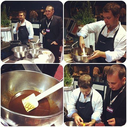 Vitaliy Yarosh di Gustomio presenta insieme a Viktoriya Litvinchuk lo chef Anton Schmaus del Ristorante Historisches Eck di Regensburg.