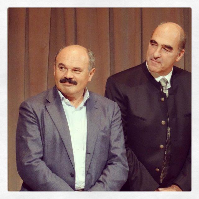 Helmuth Kokher e a sinistra Oscar Farinetti