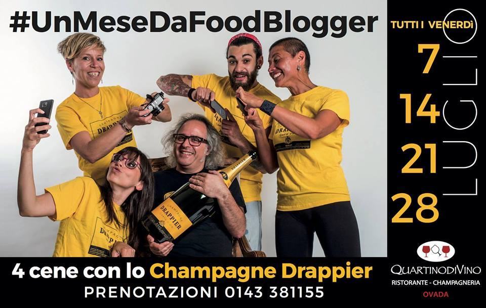 #UnMeseDaFoodBlogger alla Champagneria Quartino DiVino di Ovada