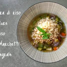 Minestra detox di riso e verdure
