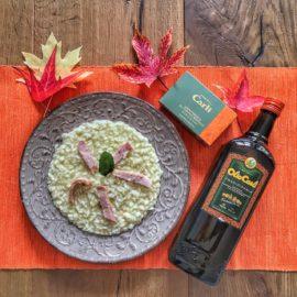 Risotto carciofi e ventresca di tonno bianco all'olio di oliva