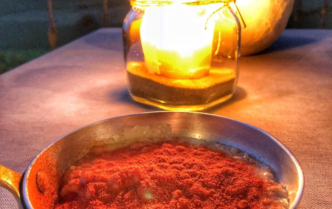 risotto alla parmigiana di melanzane