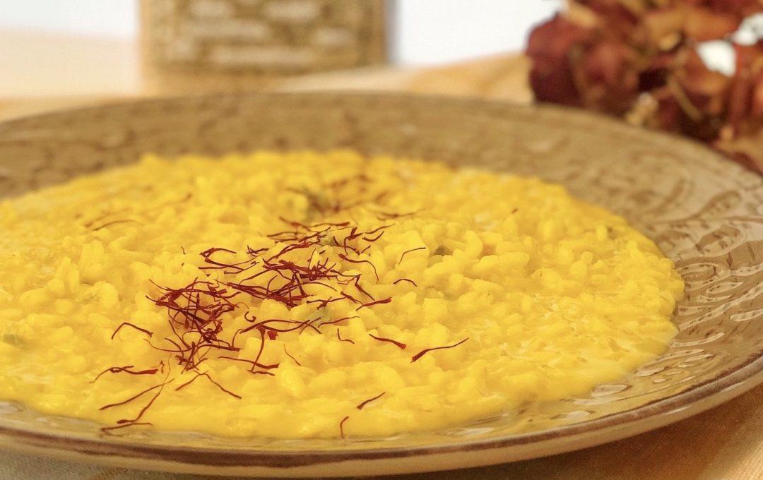 risotto integrale zafferano gorgonzola