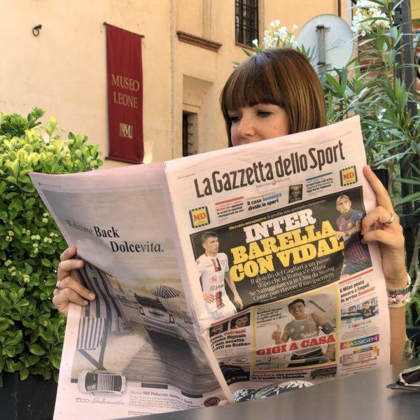 La Gazzetta dello Sport… Sommelier del riso sulla Rosa!