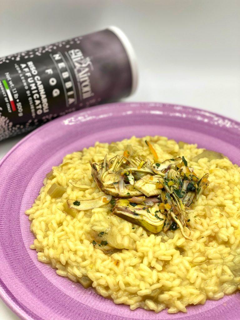 risotto affumicato carciofi