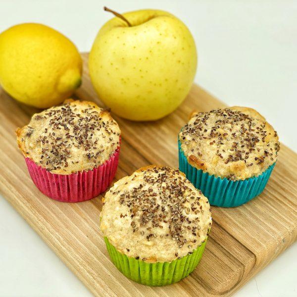 Muffin alle mele senza burro e zucchero