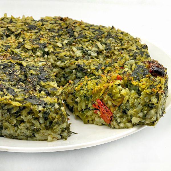 Torta di riso salata piemontese con spinaci